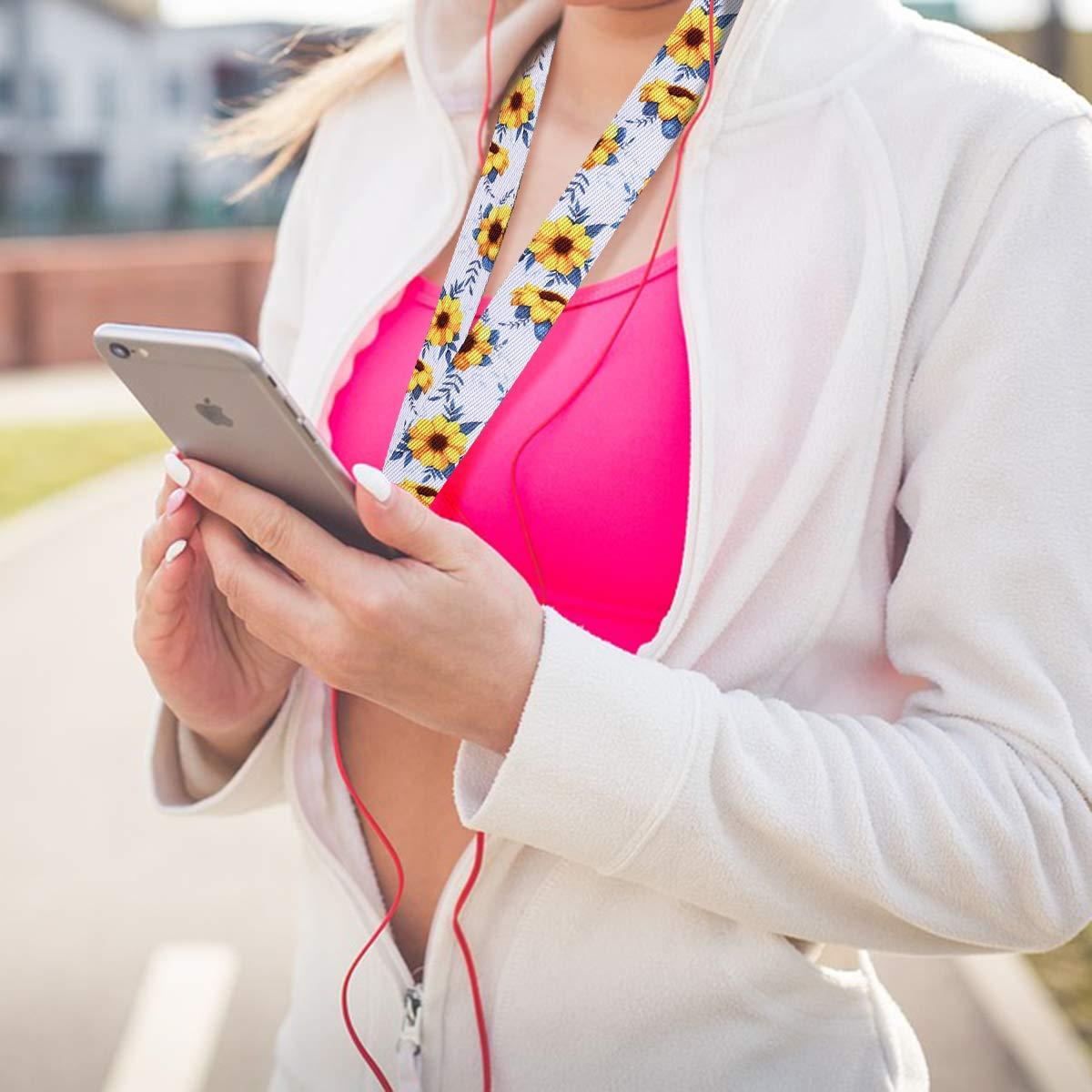 Supgear Cordino da Collo per Badge Laccetto di Alta Qualit/à per Mobile Cellulari Chiavette USB ID Carta iPod Chiavi Rose, Sezione lunga