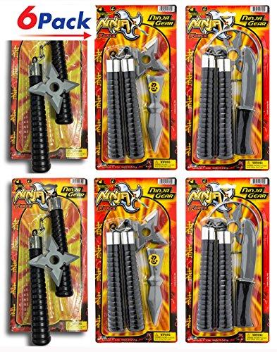Nunchucks Ninja Force Gear (Pack of 6) by 2CHILL. Pretend Play Plastic Toy Nun Chucks Martial Arts. 7599-6 -