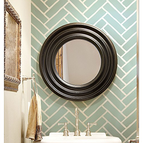 (Herringbone Brick Allover Stencil - Reusable stencils for walls - DIY home decor)