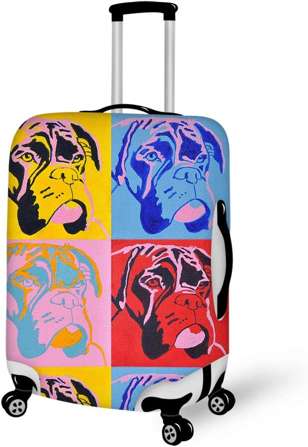 Washable Travel Luggage Cover Elastic Suitcase Trolley Protector Cover for 22-24 inch Luggage colorful number