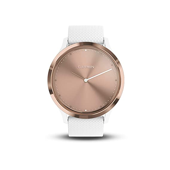 Garmin vívomove HR, Hybrid Smartwatch for Men and Women, WhiteRose Gold