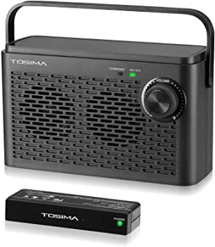Altavoces de TV inalámbricos para una audición dura, caja de sonido de TV portátil, altavoz de
