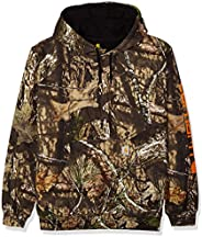 Carhartt Men's Midweight Camo Sleeve Logo Hooded Sweatshirt (Regular and Big & Tall Sizes), Mossy Oak