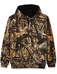 Men's Midweight Camo Sleeve Logo Hooded Sweatshirt