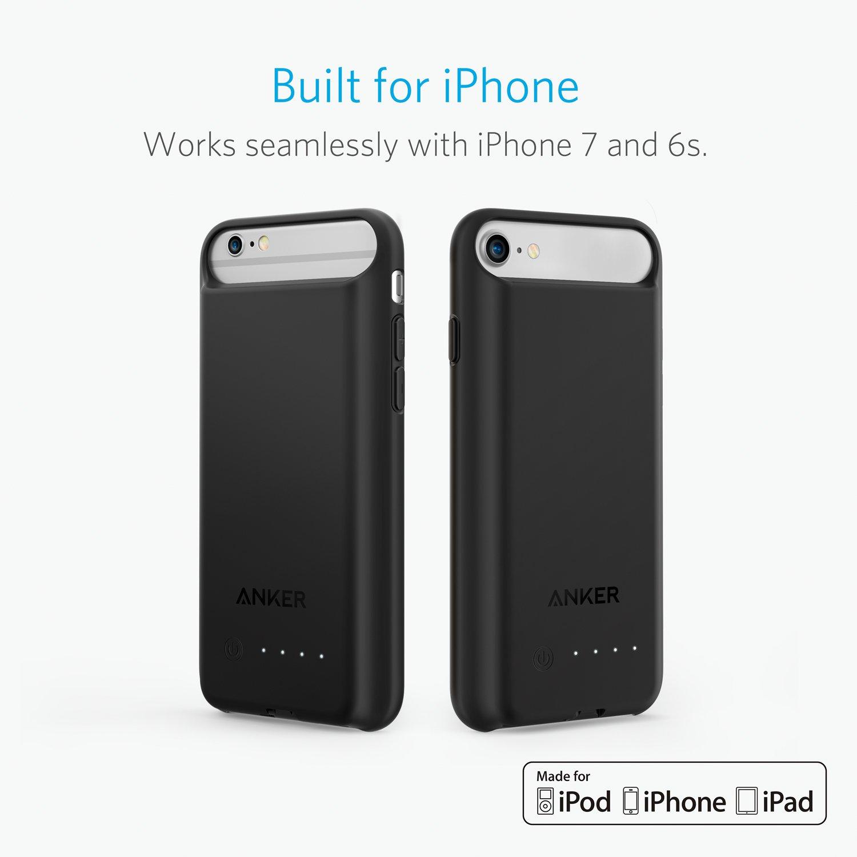 Carcasa de batería Anker PowerCore iPhone 7 Cargador ...