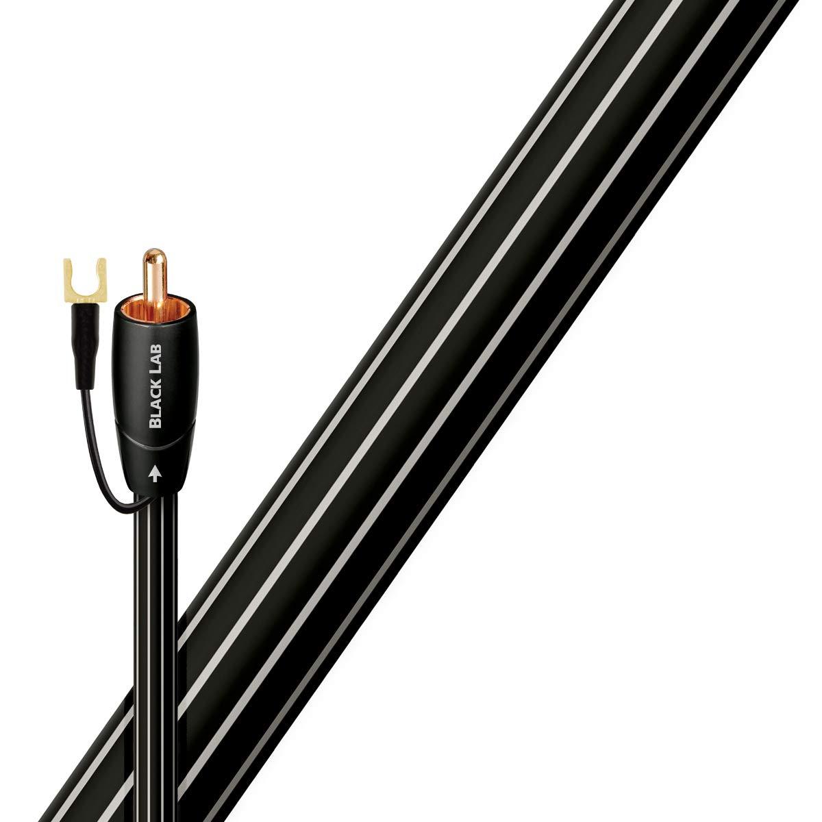 Cinch, RCA, Kupfer, 3 m Audiokabel Schwarz AudioQuest 3m Black Lab Cinch-Kabel