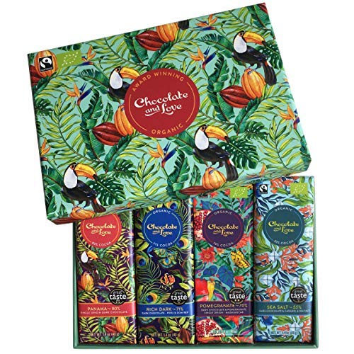 Chocolate and Love Panama Light Gift Box: Green 4 x - Exchange Equal 80