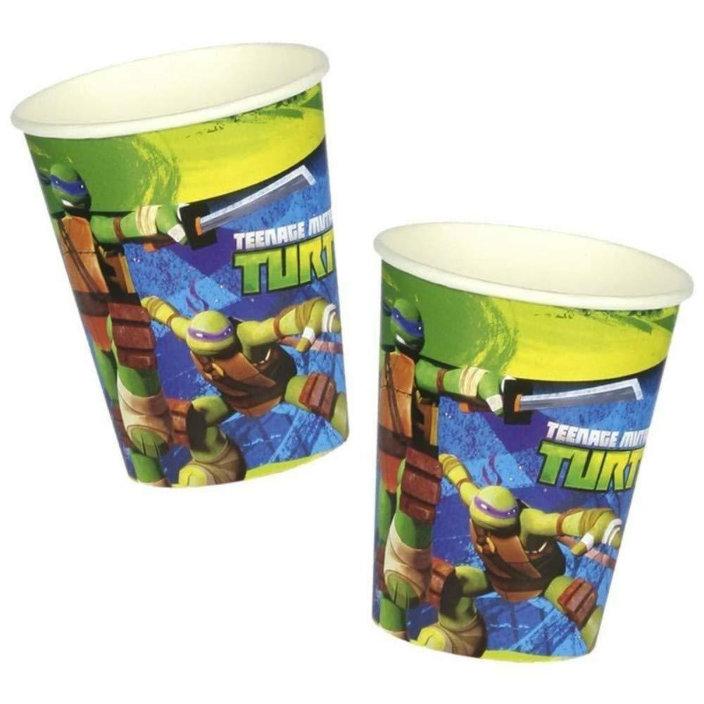 CAPRILO Lote de 24 Vasos de Cartón Infantiles Tortugas Ninja ...