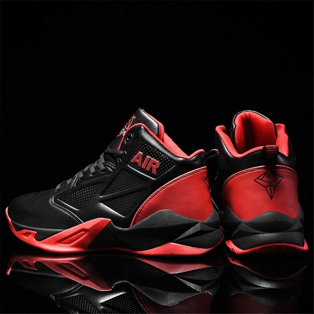 Zapatillas de Baloncesto de Entrenadores Zapatos para Correr Zapatillas de Deporte Altas Antideslizantes para Exteriores,Rojo,46: Amazon.es: Hogar