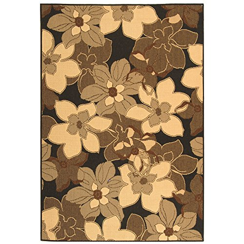 Safavieh Courtyard Collection CY4022D Black Natural and Brown Indoor/ Outdoor Area Rug (5'3