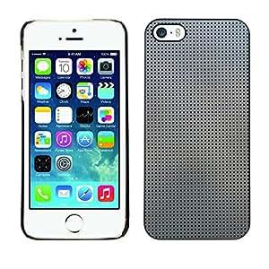 MOBMART Carcasa Funda Case Cover Armor Shell PARA Apple iPhone 5 / 5S - Steeled Dark Dots