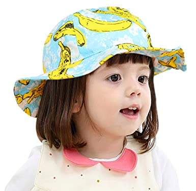 HAPPY CHERRY Toddler Girl Sun Protection Floppy Hat Wide Brim Bucket Baby  Sun Blocking Hats 12 c73abeabd0c