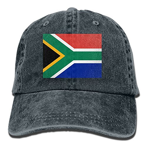LINGMEI Flag Of South Africa Unisex Adult Denim Dad Baseball Hat Sports Outdoor Cowboy Cap For Men and - Girls Singapore Ukraine In