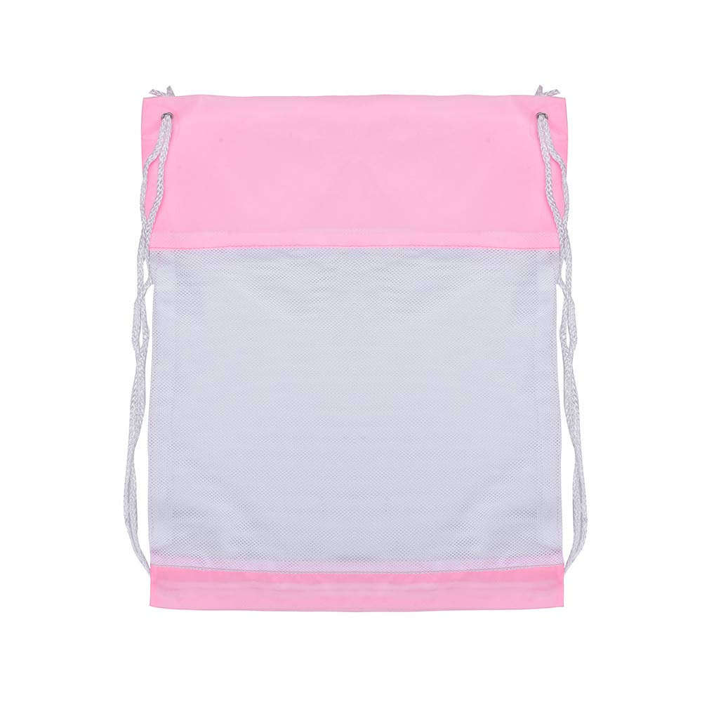 High Capacity Nylon Drawstring Bag,Outsta Sport Travel Outdoor Backpack Bags Messenger Bags Hanging bags Beach Travel Packet (Pink A)