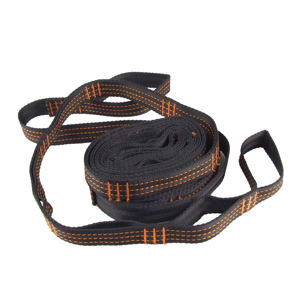 Haressu(TM Strong Hammock Hanging Belt Hammock Strap Rope with 2/12/15 Loops Double Hammock Tree Straps Camping Travel Kit Outdoor Tool[15]