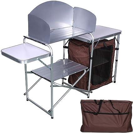 Stoge Cocina de Camping con estantes de Almacenamiento de ...