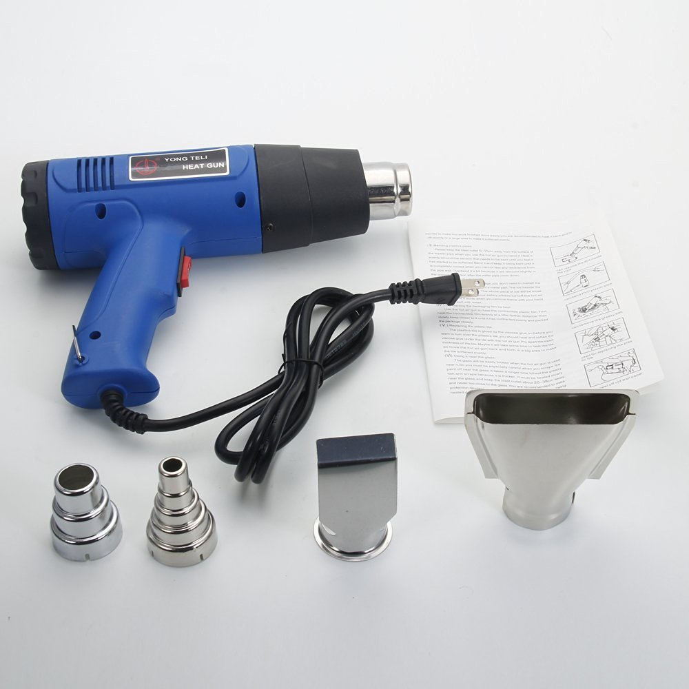 FCH 1500W Dual Temperature Hot Air Wind Heat Gun Blower with 4 Nozzles Rework Station