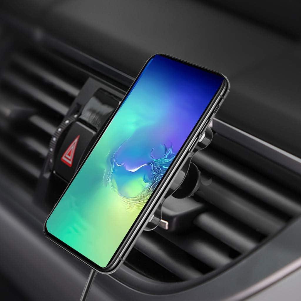 Air Vent Mount Telefon 10W Qi Drahtloses Autoladeger/äT Ist Kompatibel Mit Samsung Galaxy Note10 Plus//Note10//S8//S8+//S7//S7 Edge//Note 5 SCHWARZ Eariy Zwei In Eins Schnell Auto Kabelloses Ladeger/äT