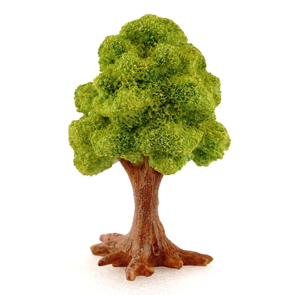Top Collection 4376 Miniature Fairy Garden & Terrarium Mini Leafy Tree Decor with Pick, Small