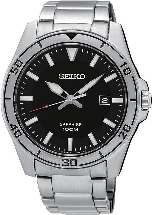 Seiko Reloj Analógico para Hombre de Cuarzo con Correa en Acero Inoxidable SGEH63P1