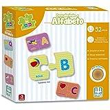 Jogo Descobrindo o Alfabeto, Madeira Be a Bá, Nig Brinquedos, Multicolor