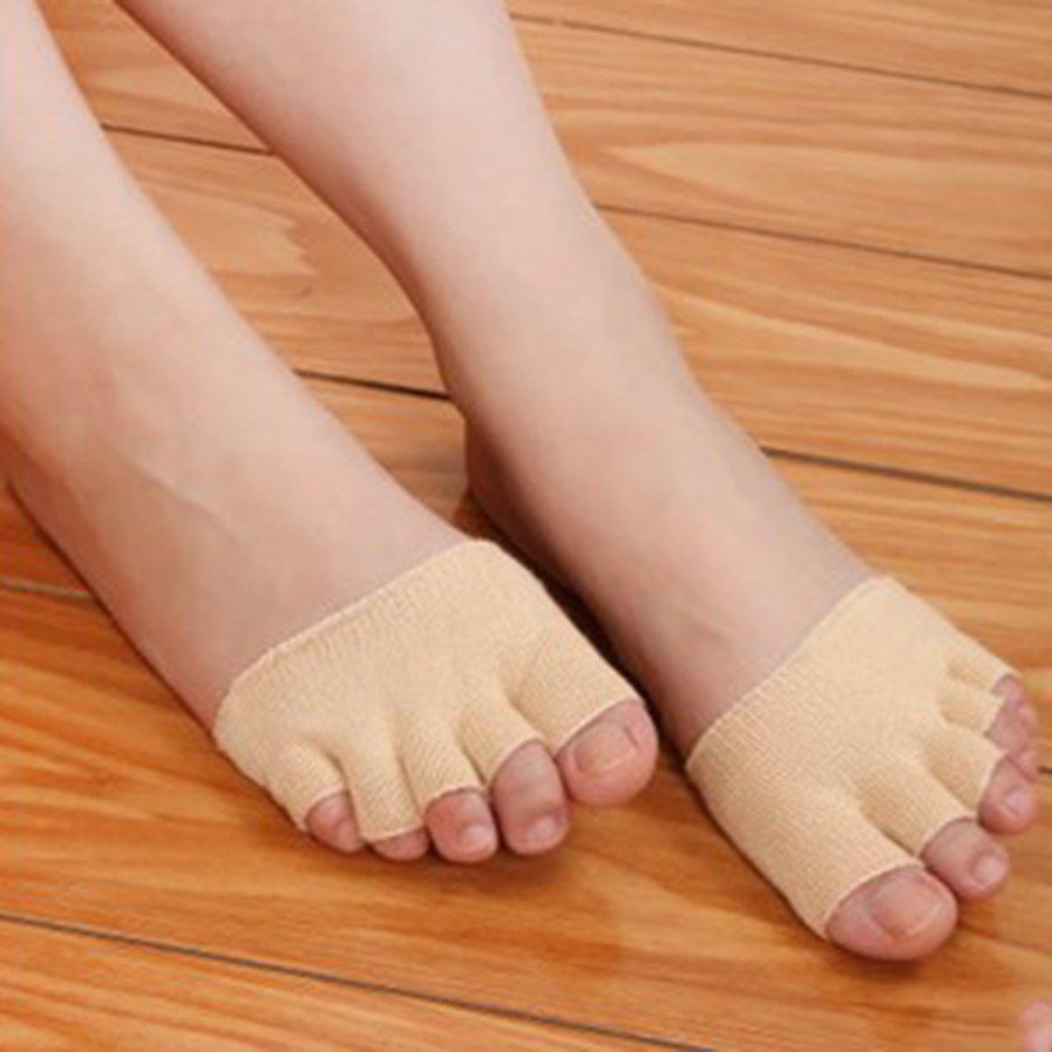 Donne ragazze antiscivolo sandali tacchi alti invisibile mezzo footie open toe lavorato a maglia a parte 5 dita calzini di assorbimento del sudore hot Delicacydex