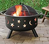 Fireplace Backyard Wood Burning Heater Steel Bowl Star Patio Fire Pit Outdoor + FREE E - Book
