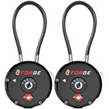 Forge Quality TSA Approved Luggage locks for travel accessories, suitcase, pelican case, ammo boxes, set your own…