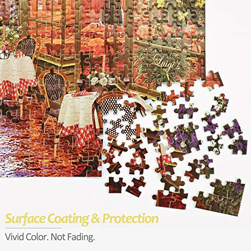 "Wooden Puzzles for Adults 1000 Pieces, Oil Painting Stree Scenery Jigsaw Puzzles 1000 Pieces for Adults Teens, 19.7"" x 27.6"" – Thick Sturdy Pieces, Challenging Family Activity Game, Great Gift Idea"