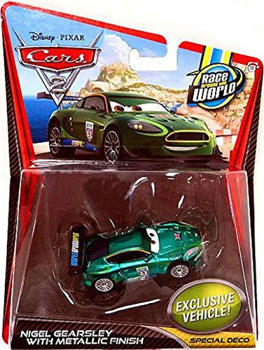 - Disney / Pixar CARS 2 Movie Exclusive 155 Die Cast Car Nigel Gearsley with Metallic Finish Special Deco