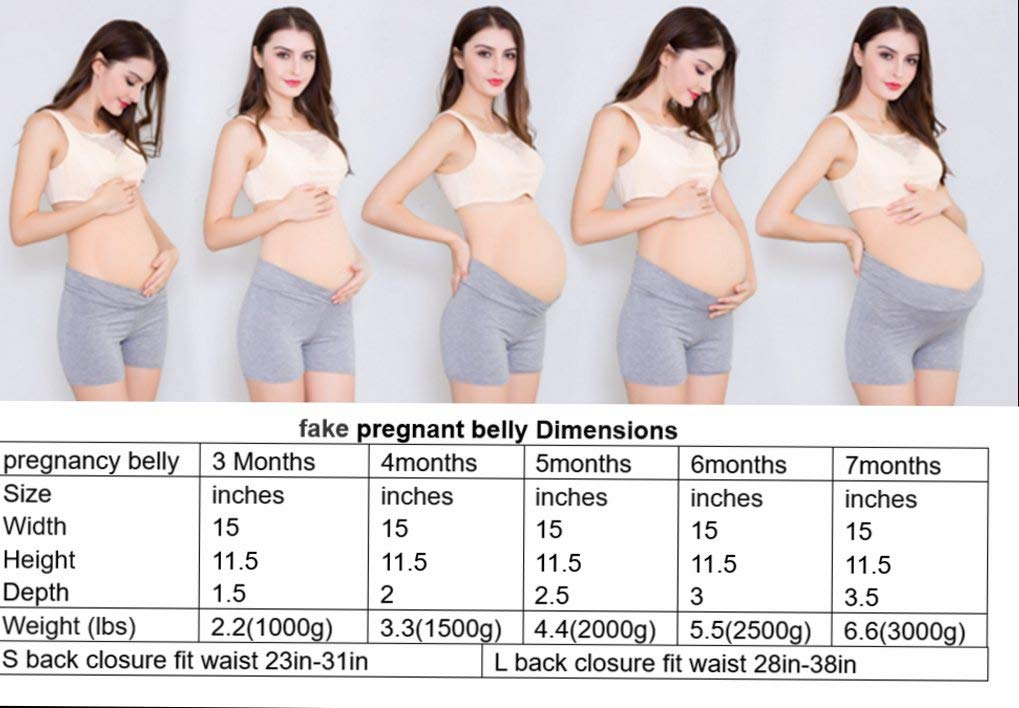 JUSTTOYOU Fake Pregnant Belly Bump for 6 Months Fake Belly Costume for Men  & Women, 5 5lbs