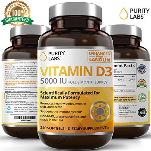 PurityLabs Vitamin D3 5000 Softgels
