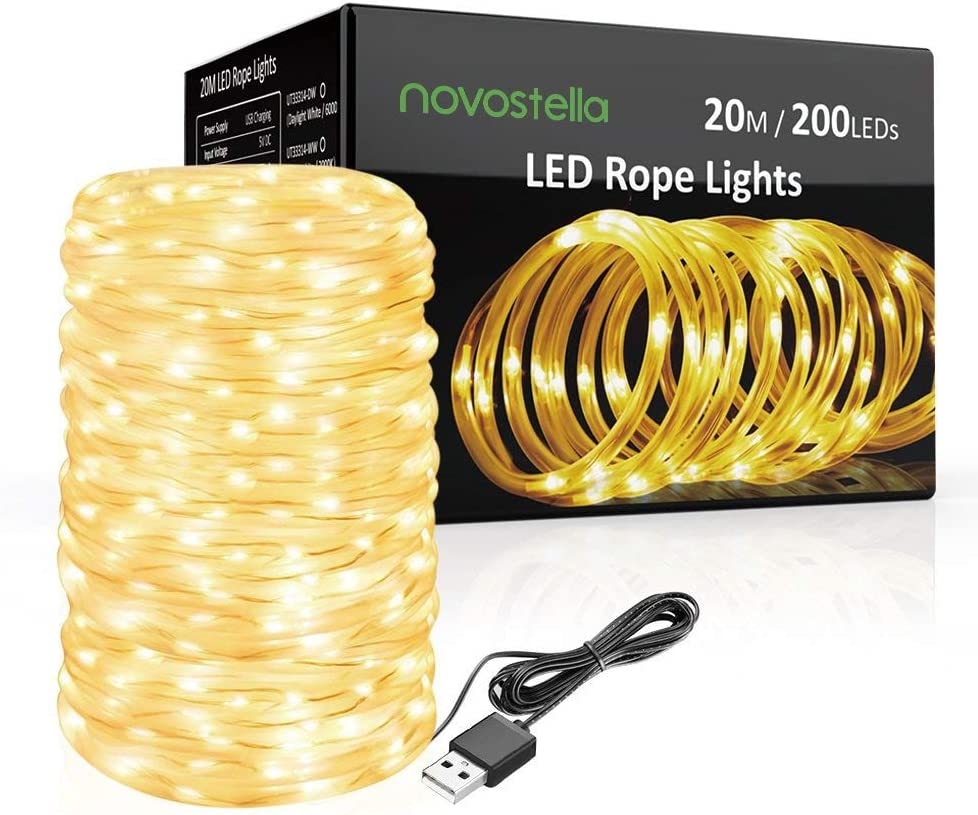 Details about  /10m USB Rope Led String Fairy Lights Strip Waterproof Outdoor Garden Patio New