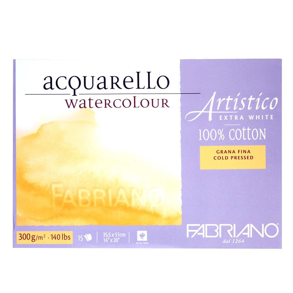 Fabriano Blocco Artistico Extra White, 23x30,5 Cm, 300 Gr, Grana Grossa, 20 Fogli 00322330