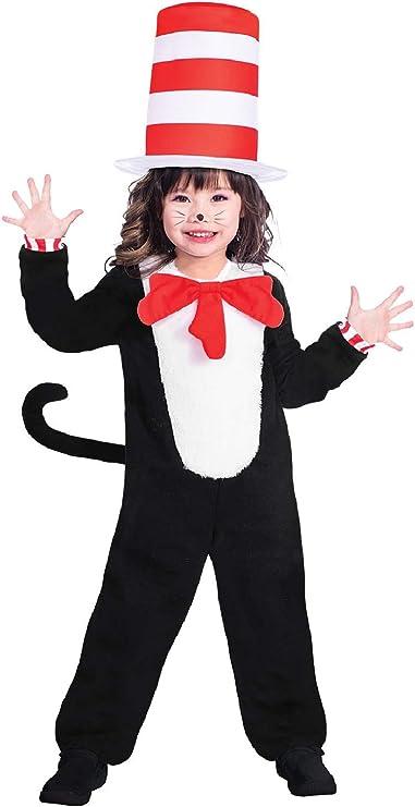 Kids Cat in the Hat Costume Kit Boys Girls Fancy Dress Accessory Book Week Day