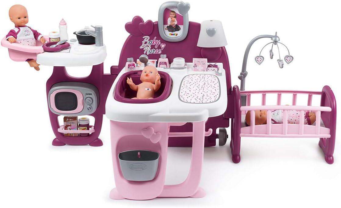 Smoby 220349 La Casa de Los Bebés Baby Nurse para Muñecos Bebé, Multicolor, única