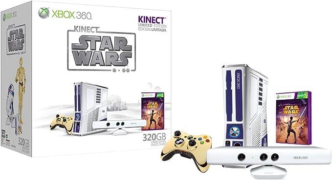 Xbox 360 - Consola 320 Gb + Star Wars Kinect + Kinect Adventures + Kinect Sensor Blanco: Amazon.es: Videojuegos