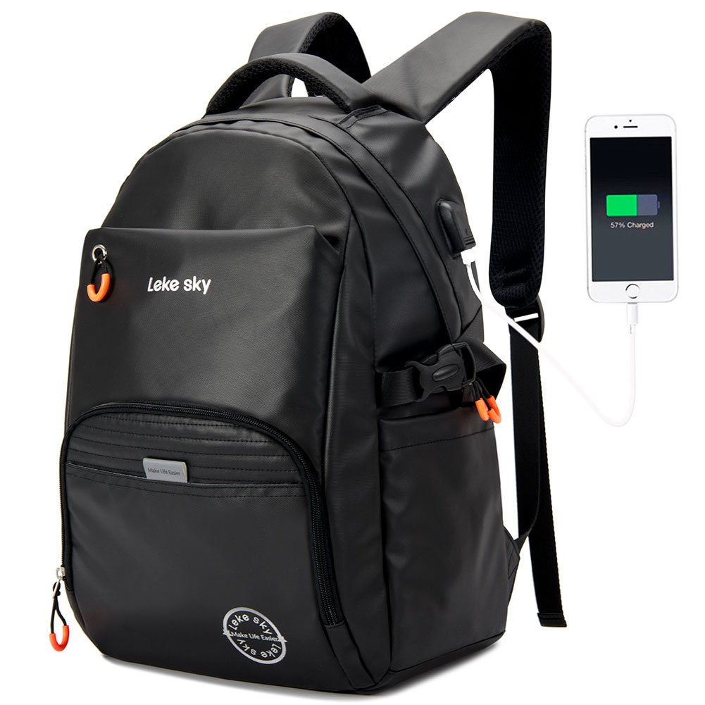 b4291e7b7 Lekesky Laptop Backpack for Men - Anti-Theft and Waterproof with USB  Changing Port 15.6 Inch Business ...