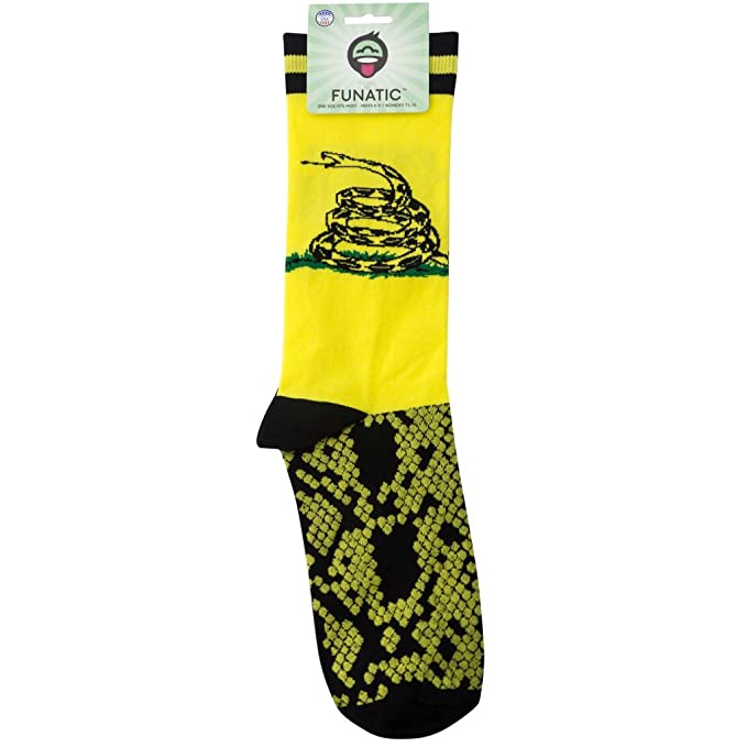 amazon com dont tread on me tea party gadsden flag socks made in