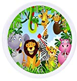 Rusch Inc. Jungle Safari Animals Wall Clock