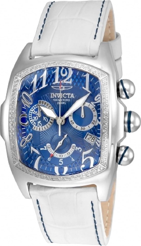 Invicta 43 mm Lupah Swissクロノグラフブルーダイヤルホワイト本革watch-22817 B06Y1SMGW2
