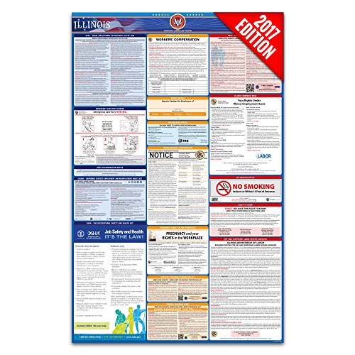 2017 Illinois Labor Law Poster – State & Federal Compliant – Laminated