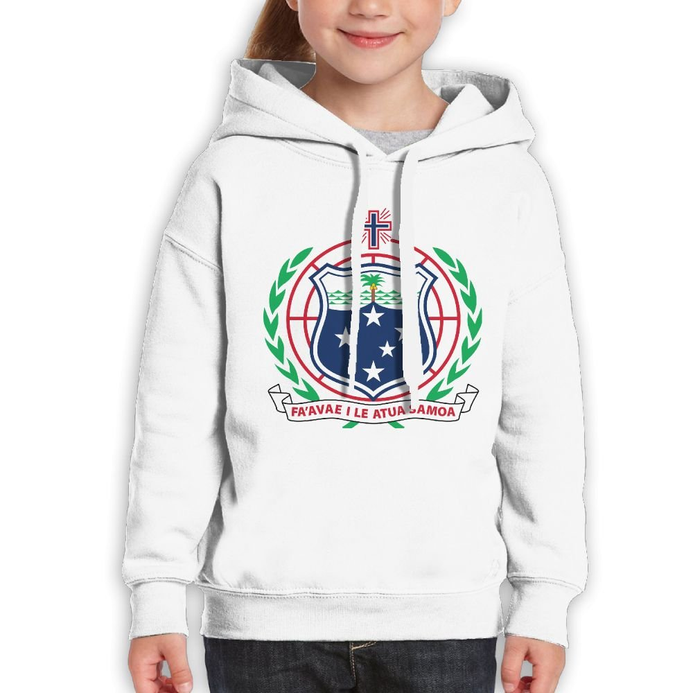 DTMN7 Coat Of Arms Of Samoa Awesome Printed Cotton Pullover For Kids Unisex Spring Autumn Winter