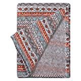 Trend Lab Soft Receiving Deluxe Sweatshirt Knit Baby Blanket, Aztec