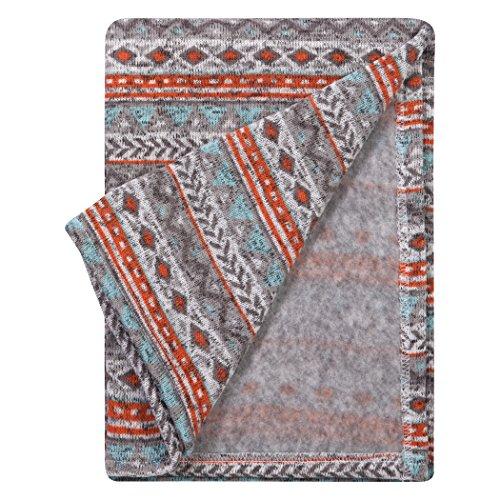 Trend Lab Soft Receiving Deluxe Sweatshirt Knit Baby Blanket, ()