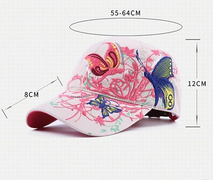 WeiMay Mujeres gorra de béisbol bordada al aire libre Deportes Sun Hat 100%  algodón  Amazon.es  Ropa y accesorios ccaa58a8412