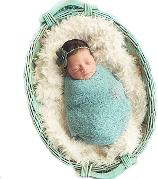 Newborn Baby Photo Props Floral Lace Layers Photography Tassel Wrap Scarf Grey