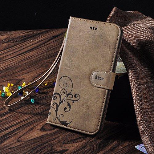 IPhone 7 plus Fall, CORNMI Retro Muster Telefon Fall Premium Vintage Flip Wallet Leder Magnetische Verschlussabdeckung mit Kartensteckplätzen, Bargeldfach, abnehmbare Handgelenkschlaufe