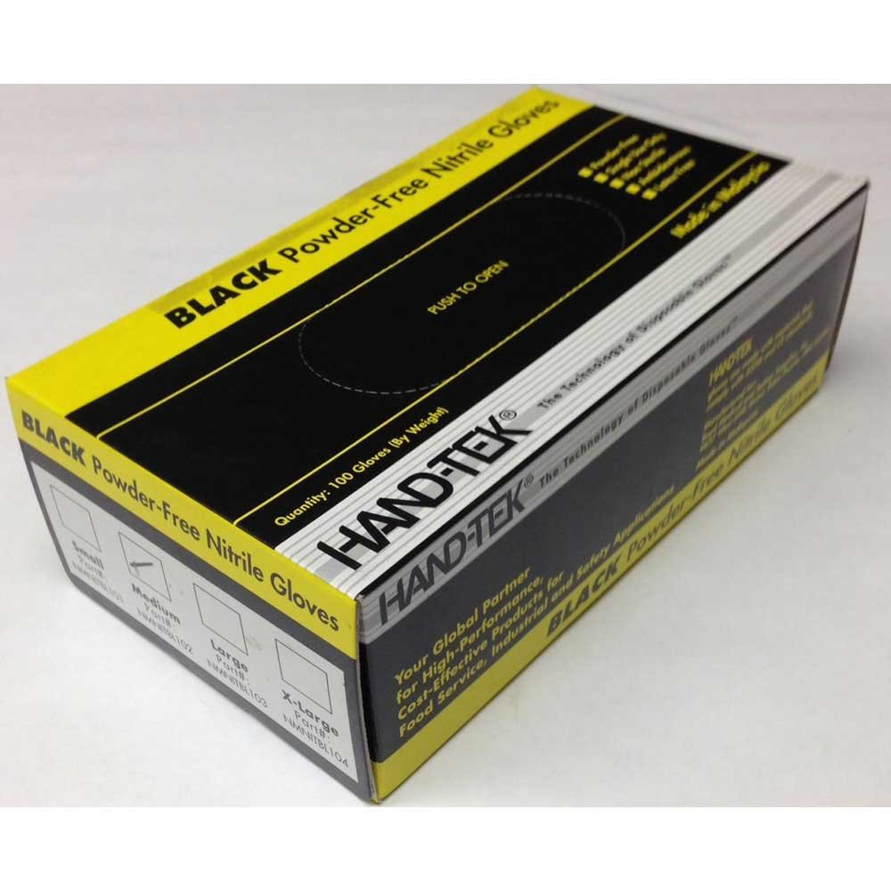 Hand Tek Disposable Powder Free Large Nitrile Gloves -- 1000 per case.