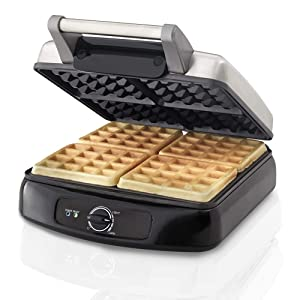 Farberware 201362 4-Slice Waffle Maker One Size Stainless Steel
